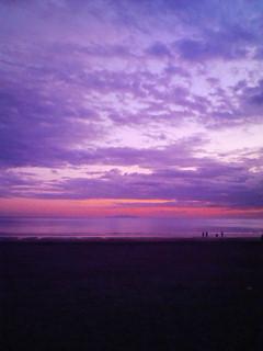 由比ガ浜の夕景