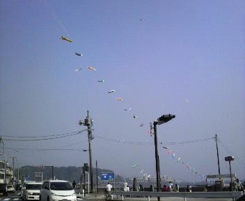 屋根より高い鯉のぼ〜り〜♪