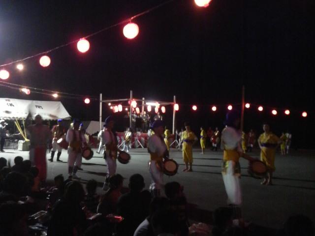 久米島の旧盆のお祭り