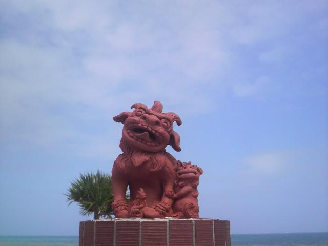 イーフビーチホテルのシーサー